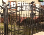 Kovaná brána Wedding